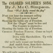 """The Colored Soldier's Song"""